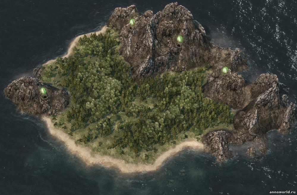 Остров, подводное плато, превью